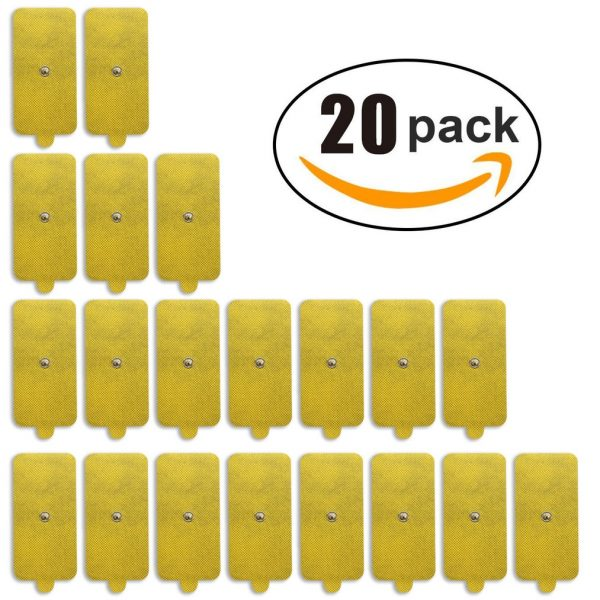 10-Pack of Extra Large Replacement Gel TENS Pads-0